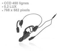 Micro caméra tactique CCD 450 lignes couleur avec audio