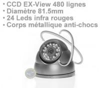 Mini dôme antichoc multi directionnel CCD EXview 480 lignes infra rouge
