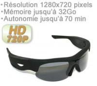 Lunettes caméra sport audio video HD 720p 3 millons de pixels