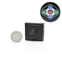 Micro caméra CCD 480 lignes avec menu de paramétrage OSD et objectif pinhole