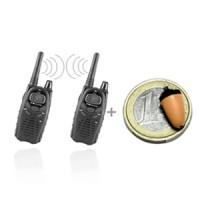 Kit micro oreillette sans fil ultra miniaturisée et deux talkies-walkies professionnels cryptés