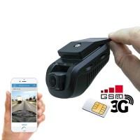 Enregistreur de conduite 3G double caméra HD 1080P avec position GPS sur smartphone & PC