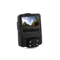 Enregistreur de conduite double caméra HD avec écran LCD et enregistrement vidéo / GPS sur carte microSD