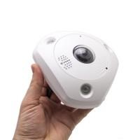 Caméra IP 6 Mégapixels panoramique 360° extérieure, vision nocturne, enregistrement sur microSDHC