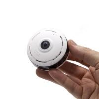 Mini caméra dôme 360° IP WiFi 1.3 Mpx vision nocturne enregistrement détection de mouvement sur carte microSD
