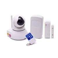 Système caméra pilotable et alarme IP WiFi HD 1080P avec capteur de présence et d'ouverture de porte