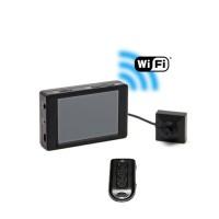 Kit micro caméra bouton ou vis Full HD 1080P avec micro enregistreur avec écran tactile et connexion Wi-Fi sur smartphone iOS & Android et télécommande sans fil