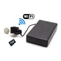 Kit mini caméra IP WiFi P2P HD 960P longue autonome avec vision nocturne invisible avec accès à distance sur smartphone 128 Go