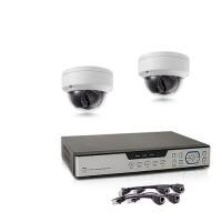 Kit de vidéosurveillance intérieur/extérieur avec enregistreur IP 1To et 2 caméras dôme HD 1080P PoE