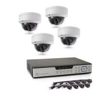 Kit de vidéosurveillance intérieur/extérieur avec enregistreur IP 1To et 4 caméras dôme HD 1080P PoE