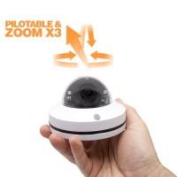Mini caméra dôme PTZ Zoom 3X vision nocturne extérieure IP66 analogique AHD 1080P