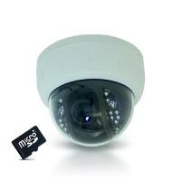 Caméra dôme 800 lignes vision nocturne avec détection de mouvement et carte SDHC