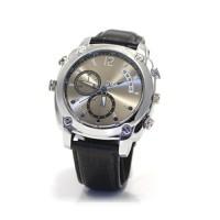 Montre caméra HD 1080P moderne bracelet en cuir 32 Go