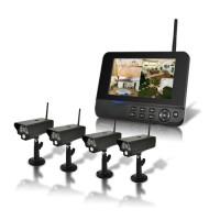 Kit video surveillance sans-fil 4 caméras Infrarouge et récepteur écran LCD 7