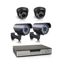 Kit vidéosurveillance 1 To avec 4 caméras AHD 1080P intérieures et extérieures