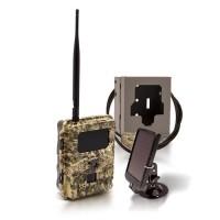 Caméra de chasse autonome 3G HD 720P 8MP IR invisible, cryptage 256 bits avec box anti-vandale & panneau solaire