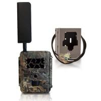 Caméra de chasse autonome 4G HD 8MP avec IR invisible, cryptage 256 bits et box anti-vandale