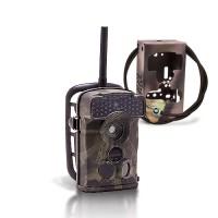 Dernière génération - Caméra de chasse alerte HD 720P envoi MMS e-mail IR invisible avec box anti-vandale