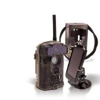 Dernière génération - Caméra de chasse alerte HD 1080P GSM envoi MMS e-mail IR invisible avec batterie solaire et box anti-vandale