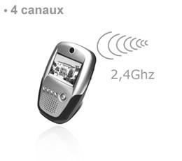 Récepteur LCD audio vidéo sans fil 2,4 Ghz quatre canaux
