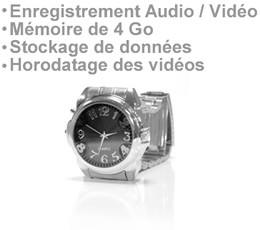 Montre enregistreur audio vidéo 4 Go