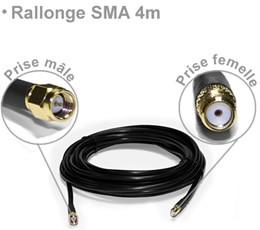Rallonge SMA mâle / femelle d'une longueur de 4m
