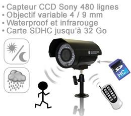 Enregistreur avec caméra infrarouge waterproof 1