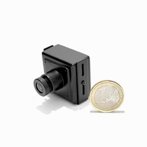 Micro camera filaire couleur CCD Ex-view 480 lignes mini objectif