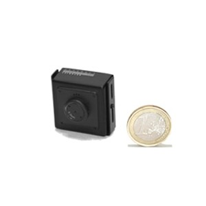 Micro camera filaire couleur CCD Ex-view 520 lignes objectif Pinhole