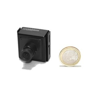 Micro camera filaire couleur CCD Ex-view 520 lignes mini objectif