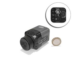 Mini camera filaire CCD N-B 600 lignes objectif C-CS