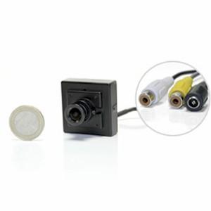 Micro caméra filaire audio video couleur CCD 550 lignes mini objectif
