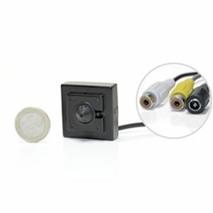 Micro caméra filaire audio/video couleur CCD 550 lignes objectif Pinhole