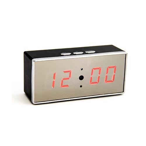 Caméra horloge rectangulaire HD 1080P avec vision nocturne et enregistrement sur carte micro SDHC (16Go fournie)