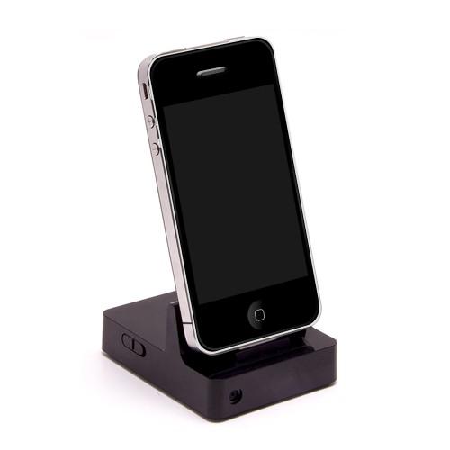 Station d'accueil iPhone avec micro caméra 2K et détection de mouvement