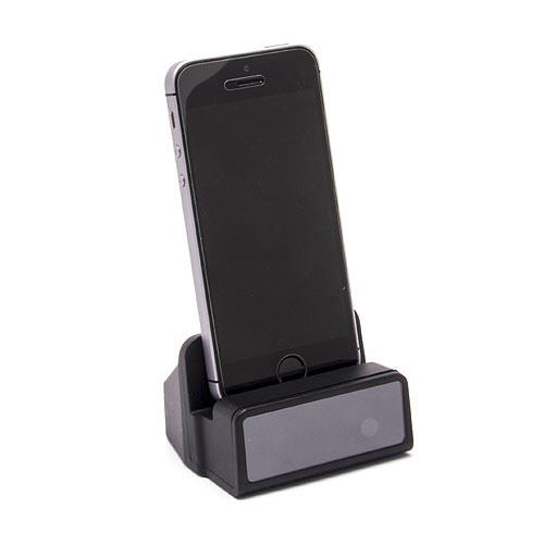 Dock de recharge fonctionnelle pour Apple iPhone avec module caméra HD 1080P et enregistreur sur carte micro SDHC