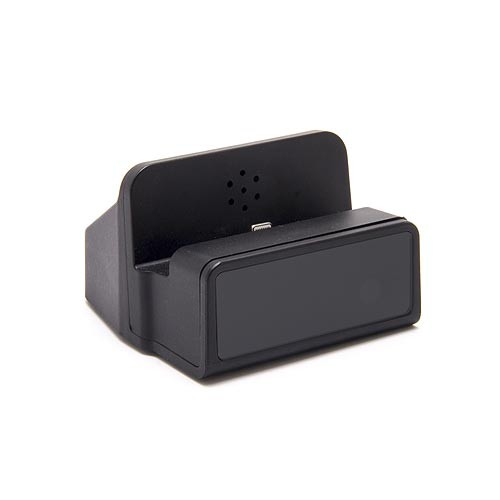 Dock de recharge fonctionnelle pour smartphone Android avec module caméra HD 1080P et enregistreur sur carte micro SDHC (carte 64Go inclue)