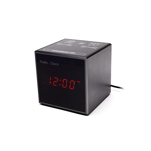 Horloge radio réveil et enceinte Bluetooth avec caméra cachée HD 720P vision nocturne invisible avec enregistrement sur carte microSD à la détection de mouvement