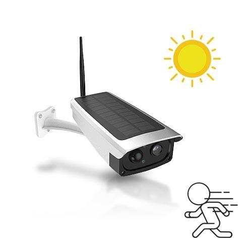 Caméra solaire IP Wi-Fi extérieure HD 1080P, détecteur de mouvement PIR, vision nocturne et Notifications Push, 32 Go
