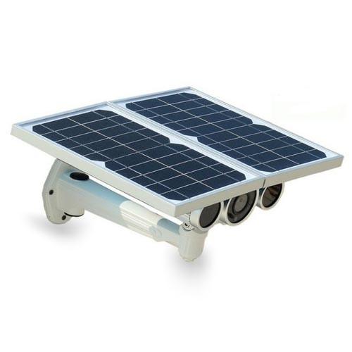 Caméra IP WIFi HD 720P très basse luminosité autonome avec panneaux solaire