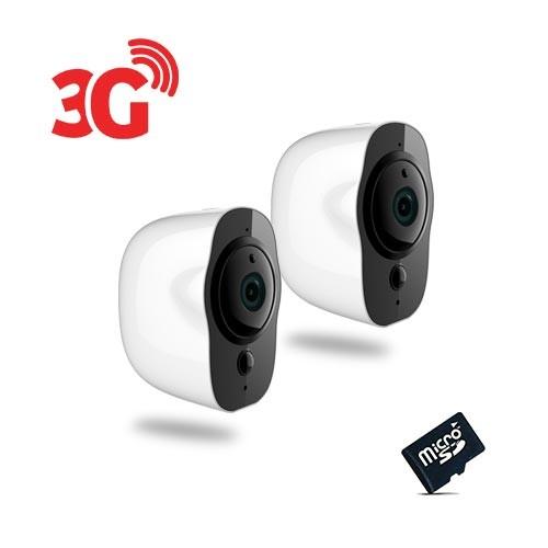 Kit de 2 Smart caméra alarme 3G Wi-Fi HD 1080P, 64Go
