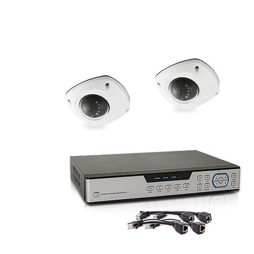 Kit de vidéosurveillance 5 Mpx intérieur/extérieur avec enregistreur IP 1To et 2 caméras dôme HD 1080P PoE