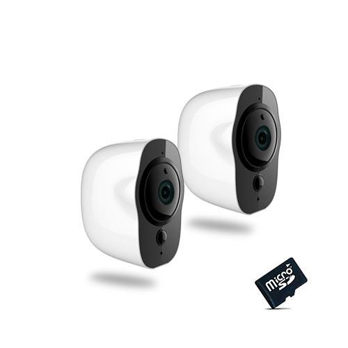 Kit de 2 Smart caméra alarme Wi-Fi HD 1080P,