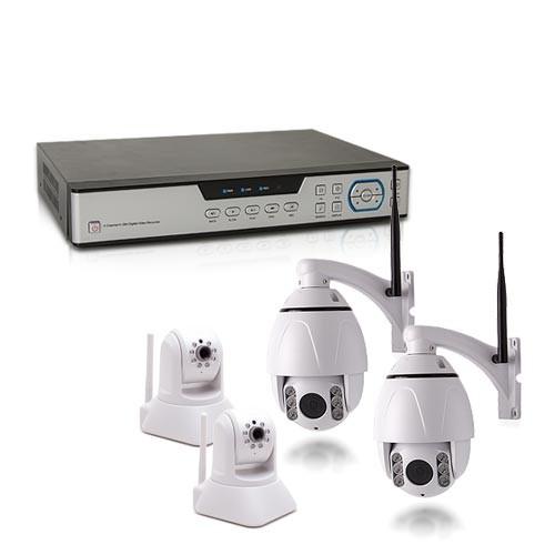 Kit vidéosurveillance 1 To avec 4 caméras HD IP WIFI