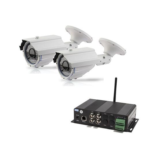 Kit Serveur vidéosurveillance mobile WiFi 2 caméras extérieures