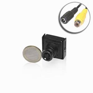 Micro caméra CCD 600 lignes 0,0003 lux carré Noir-Blanc et micro objectif