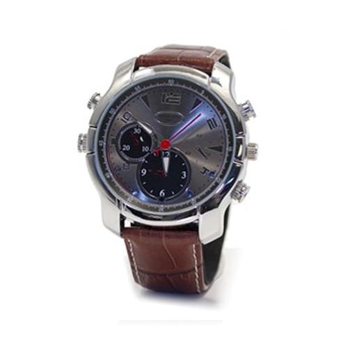 Montre caméra HD 1080P classique bracelet en cuir 32 Go