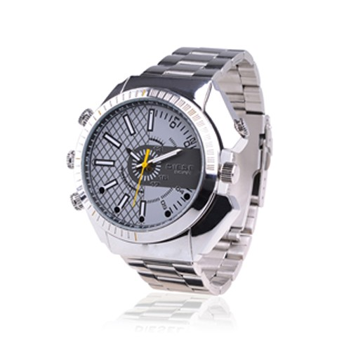 Montre Camera Fashion waterproof caméra audio vidéo HD 1080p 16Go avec infrarouge invisible