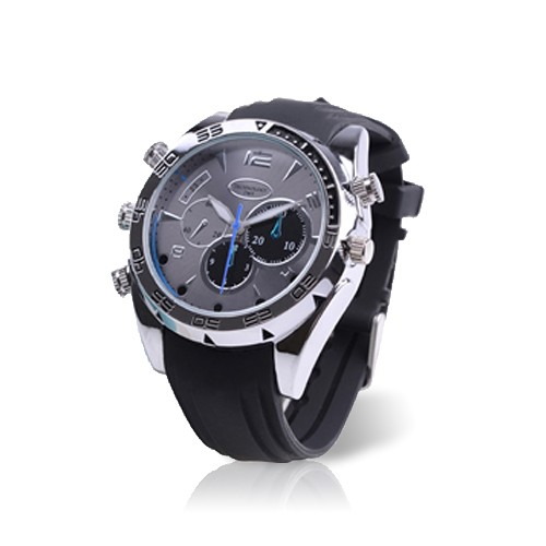 Montre caméra sport waterproof HD avec infrarouge invisible