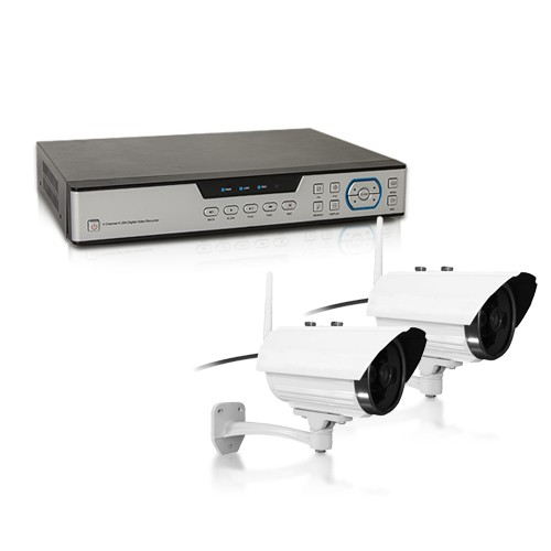 Kit vidéo surveillance 500 Go avec 4 caméras 420 lignes